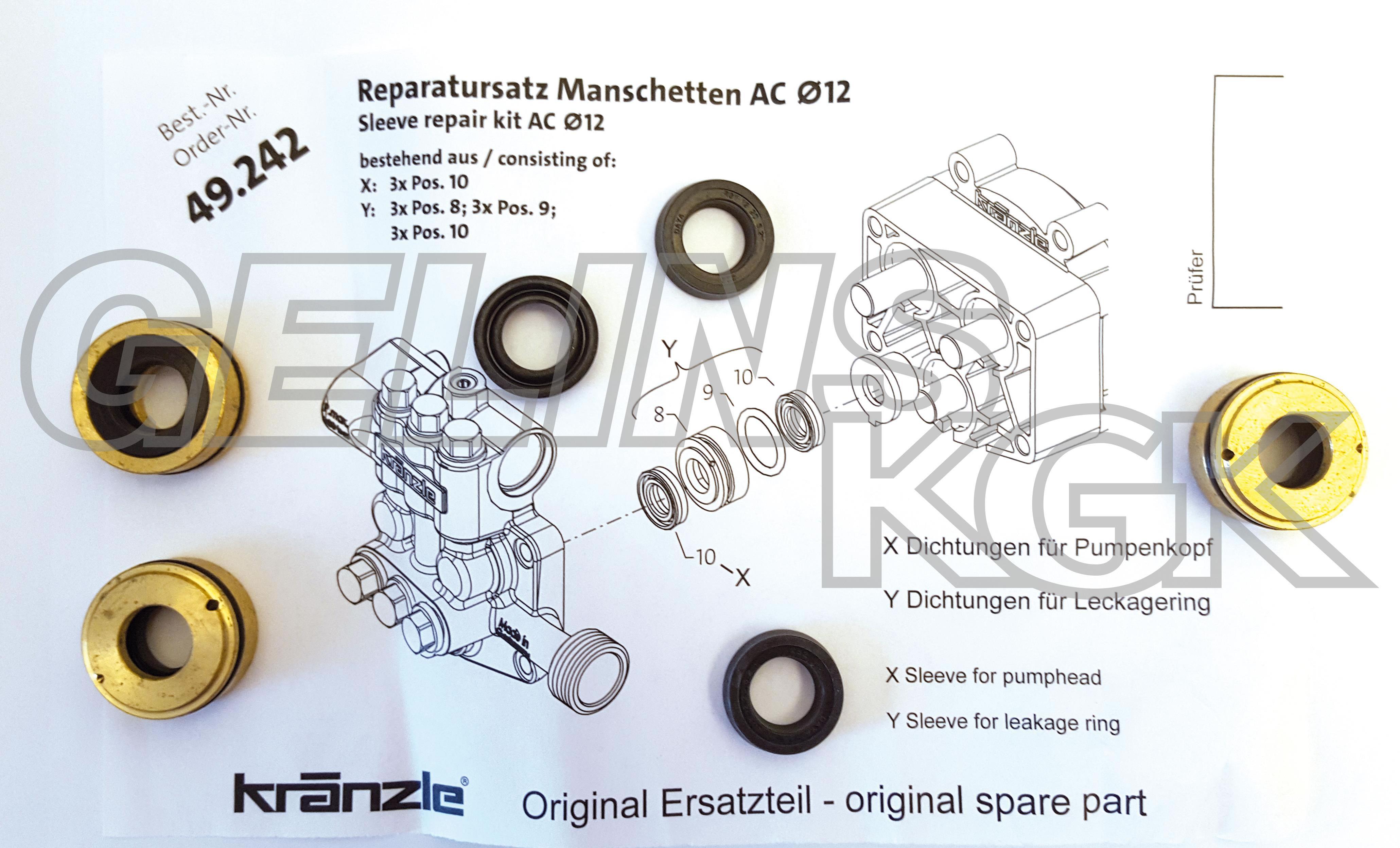 MANSCHETTSATS K1050