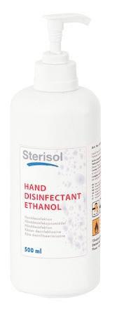 Handdesinfektion Sterisol Ethanol 70% flaska med Pump