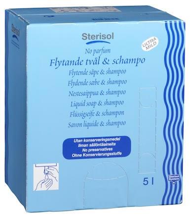 Flytande Tvål Sterisol Ultra mild oparf 5 L