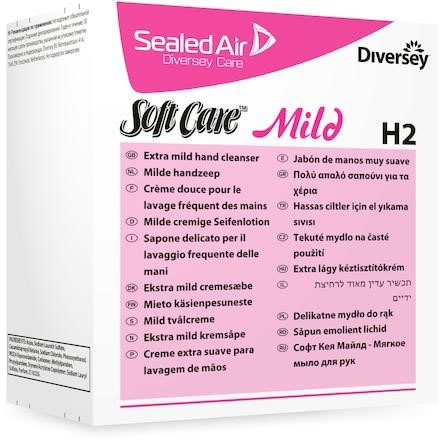 Systemtvål Soft Care mild H2 refill