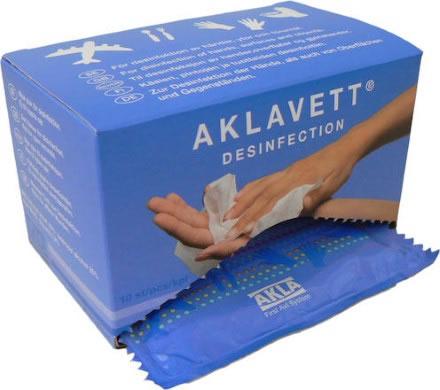 Aklavett Desinfektionsduk fp med 10 st