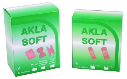 Plåster 20x70 mm Akla Soft 95601 i nonwoven