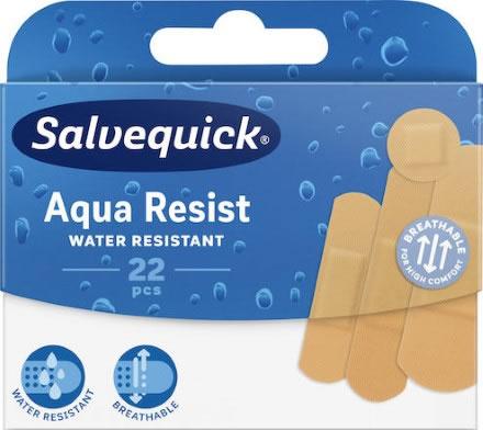 Plåster Salvequick Aqua Resist Mix 4 storl. 22st