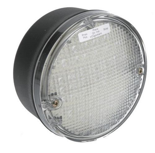 BAKLAMPA RUND LED KLAR 12&24V
