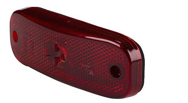 Positionsljus röd LED 12V med reflex, 0,5m kabel