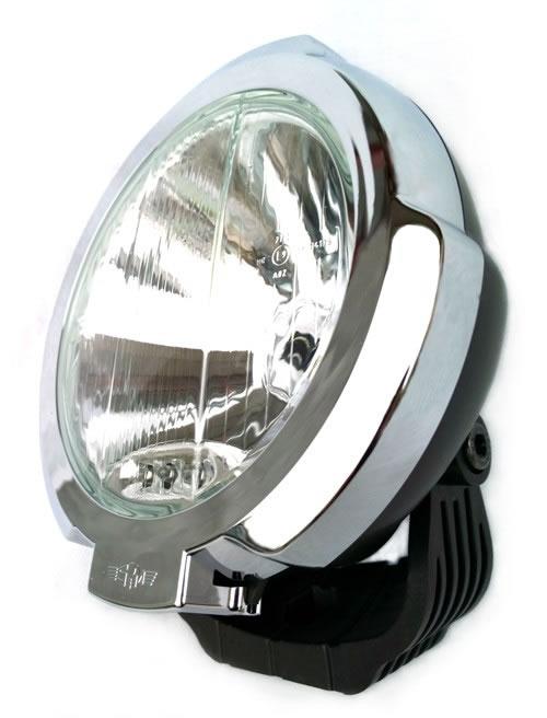Extraljus SIM Svart m. kromad sarg, LED Pos. ljus.