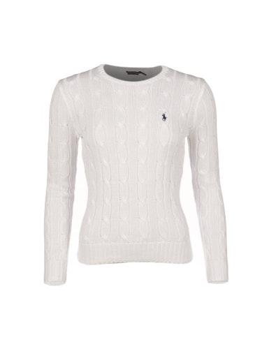 POLO RALPH LAUREN - Julianna Classic Long Sleeve Sweater Vit