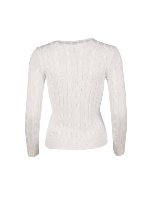 POLO RALPH LAUREN - Julianna Classic Long Sleeve Sweater Vit