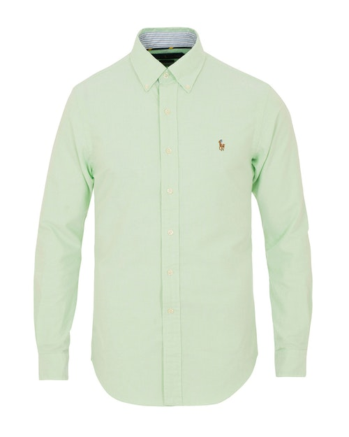POLO RALPH LAUREN - Slim Fit Long Sleeve Sport Shirt Lime