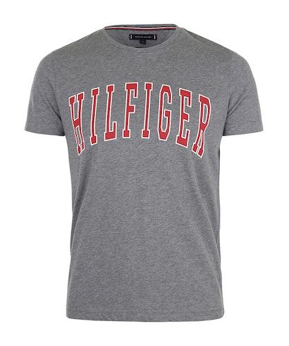 TOMMY HILFIGER - College Logo Tee Grå