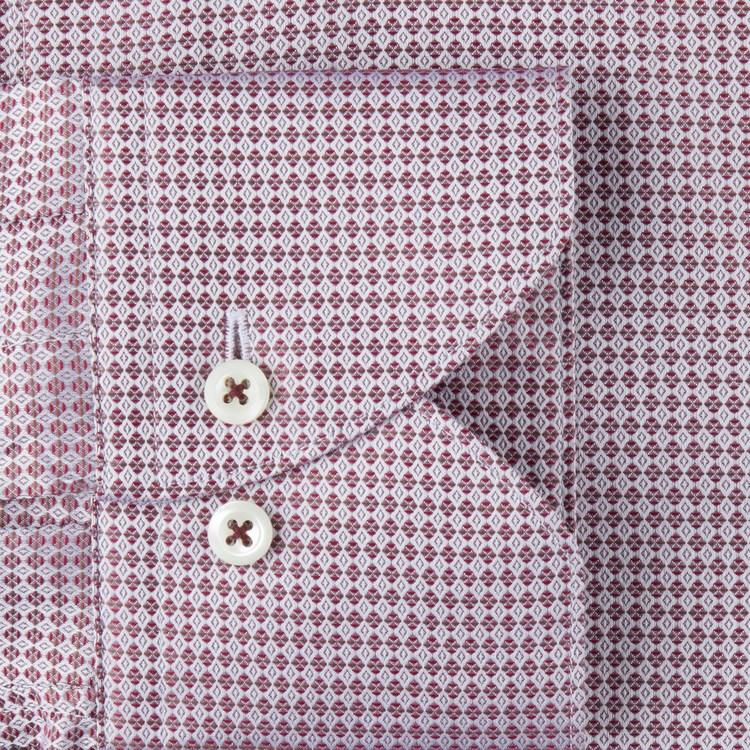 STENSTRÖMS - Slimline Fuchia Checked Shirt Röd