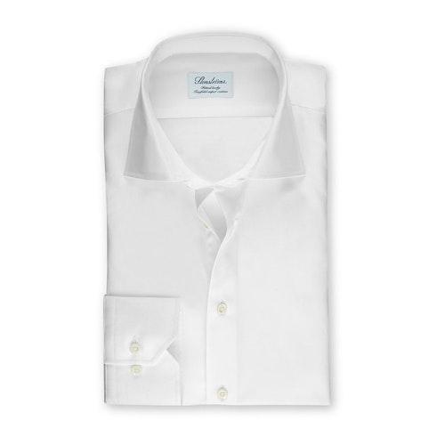 STENSTRÖMS - Fitted Body Shirt In Superior Twill Vit