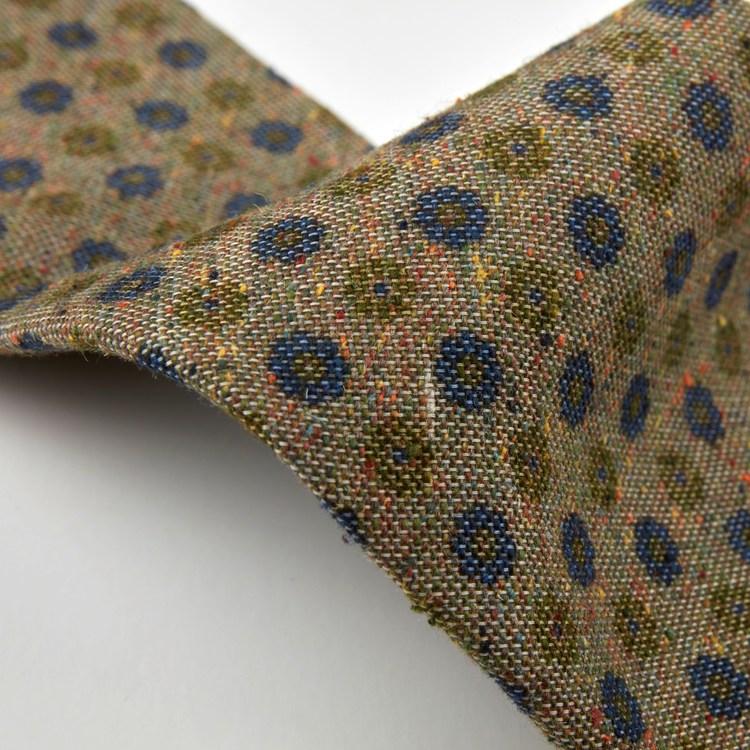 STENSTRÖMS - Floral Textured Silk Tie Grön