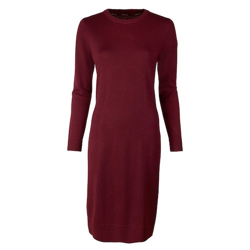 STENSTRÖMS - Bordeaux Merino Dress Röd