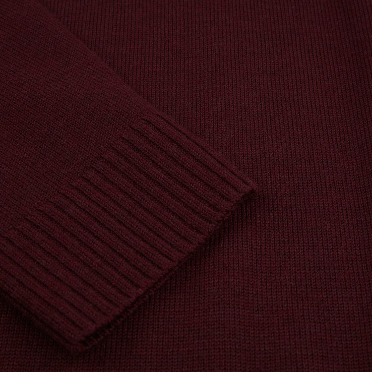 STENSTRÖMS - Bordeaux Merino Dress Röd