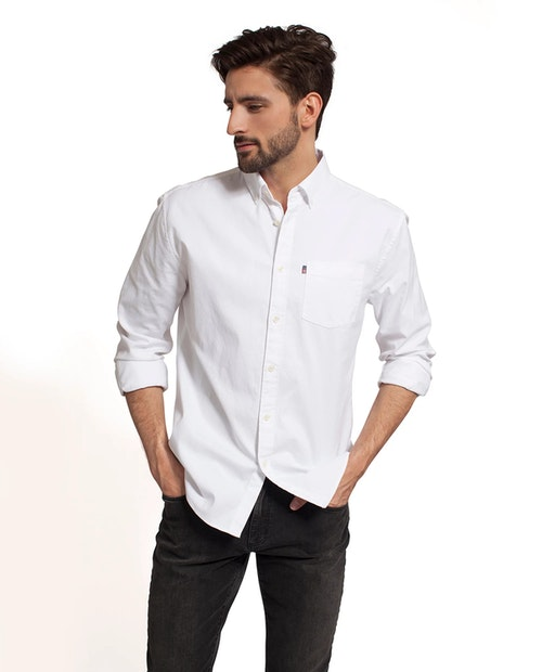 LEXINGTON - Kyle Oxford Shirt Vit