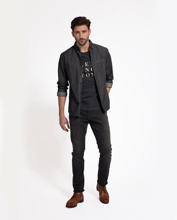 LEXINGTON - Clive Denim Shirt Grå