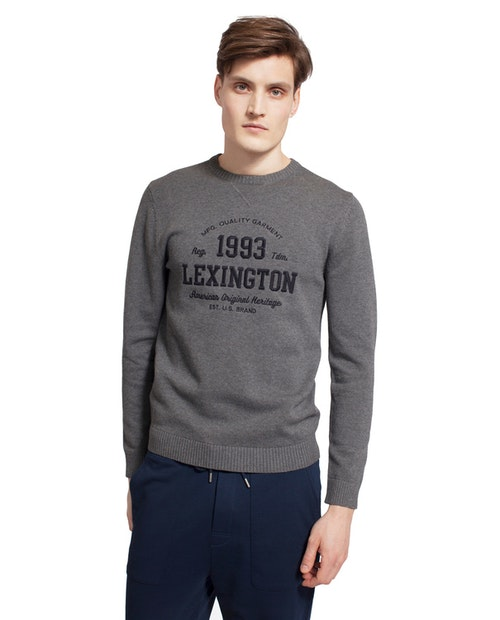 LEXINGTON - Nelson Knitted Sweatshirt Grå