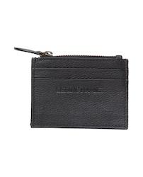 LEXINGTON - Cove Leather Card Holder Black