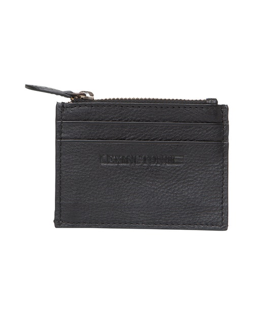 LEXINGTON - Cove Leather Card Holder Black