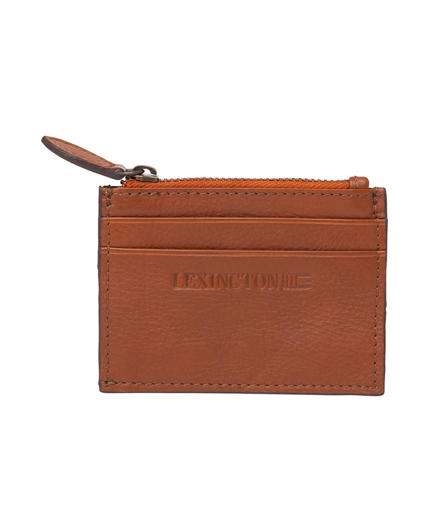 LEXINGTON - Cove Leather Card Holder Brun
