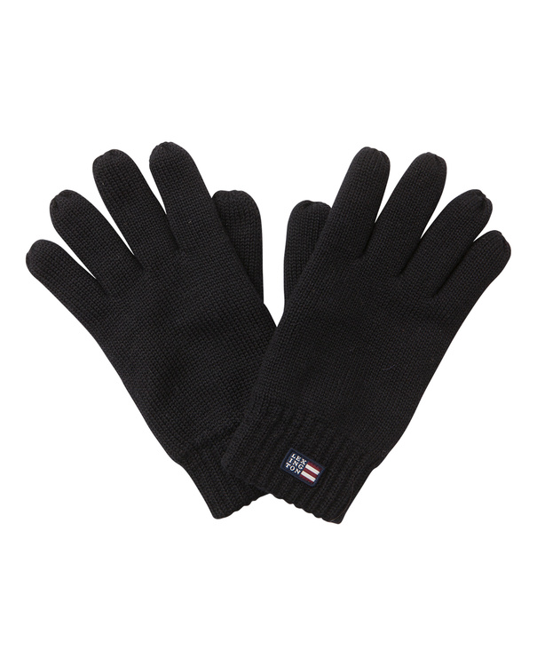 LEXINGTON - Connecticut Unisex Knitted Gloves Svart