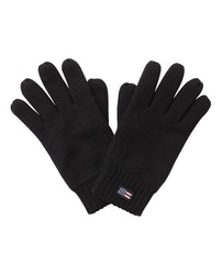 LEXINGTON - Connecticut Unisex Knitted Gloves Svart