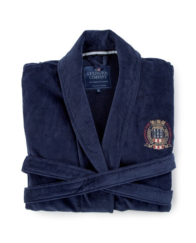 LEXINGTON - Velour Robe Blå