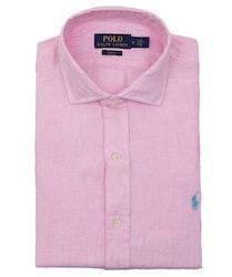 POLO RALPH LAUREN - Slim Fit Long Sleeve Sport Shirt Linen Rosa