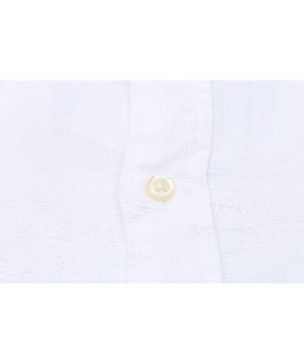 POLO RALPH LAUREN - Slim Fit Long Sleeve Sport Shirt Linen Vit