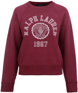 POLO RALPH LAUREN - College Long Sleeve Knit Röd