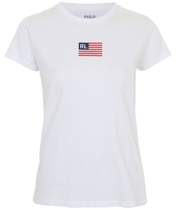 POLO RALPH LAUREN - Short Sleeve Flag Tee Vit