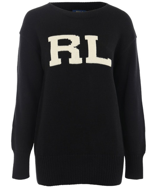 POLO RALPH LAUREN - Long Sleeve RL Sweater Svart