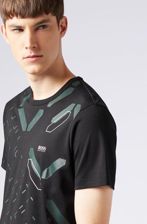HUGO BOSS - Slim Fit T-Shirt Digital-Clock Artwork Svart