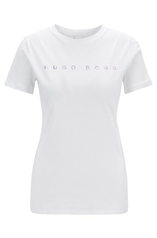 HUGO BOSS - Logo T-shirt Tedecent Vit