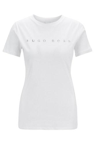 HUGO BOSS - Logo T-shirt Tedecent Vit
