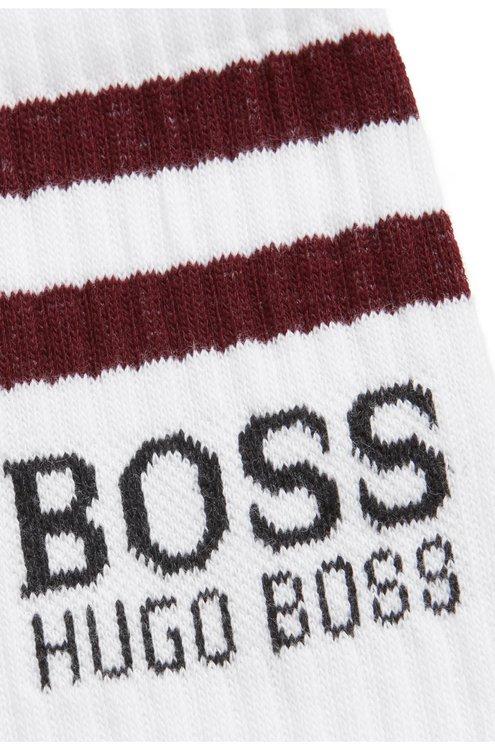 HUGO BOSS - Cotton Socks Logo Vit
