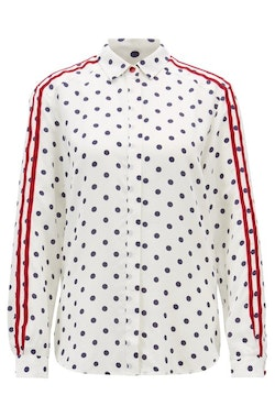 HUGO BOSS - Regular Fit Blouse Printed Silk Empoi Vit