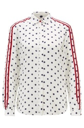 HUGO BOSS - Regular Fit Blouse Printed Silk Empoi Vit