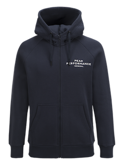 PEAK PERFORMANCE - Logo Zip-Hood Blå
