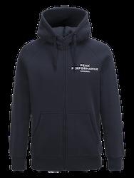 PEAK PERFORMANCE - Logo Zip-Hood Blå