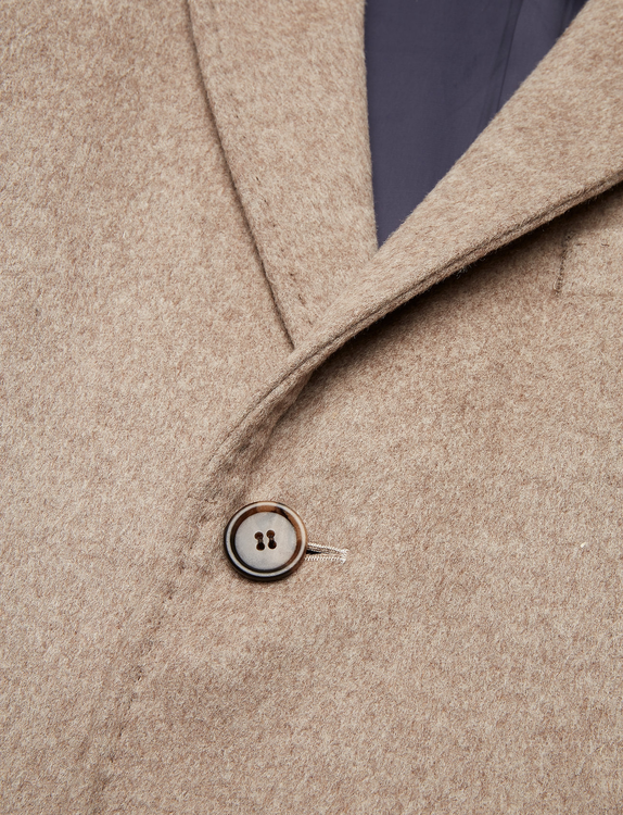 SAND - Cashmere Coat Beige