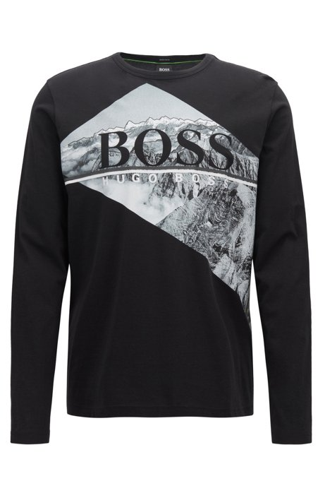 5650802ee HUGO BOSS - Togn Long Sleeve Logo T-Shirt Black - Home of Brands