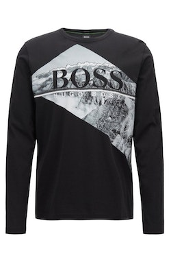 HUGO BOSS - Togn Long Sleeve Logo T-Shirt Svart