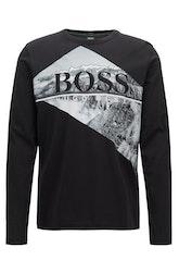 HUGO BOSS - Togn Long Sleeve Logo T-Shirt Svart