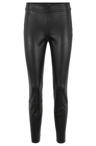 HUGO BOSS - Sawaisty Leather Trousers Svart