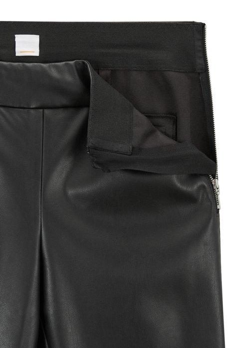 HUGO BOSS - Sawaisty Leather Trousers Svart