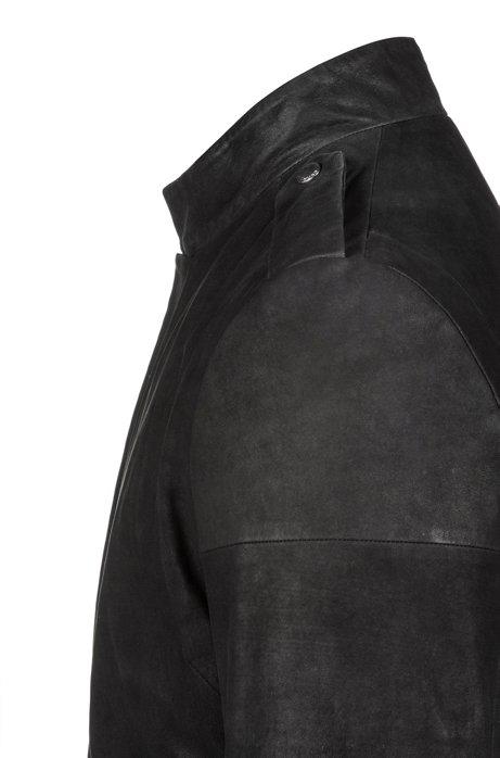 HUGO BOSS - Locan Biker Lambskin Jacket Svart