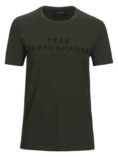 PEAK PERFORMANCE - Logo T-shirt Grön