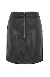 HUGO BOSS - Bawaisty Leather Skirt Svart